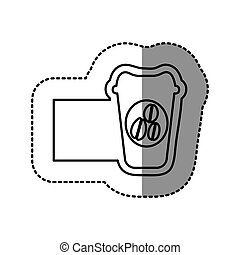 silhouette emblem coffee espresso icon