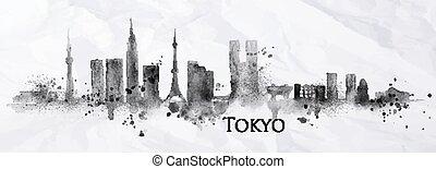 silhouette, encre, tokyo