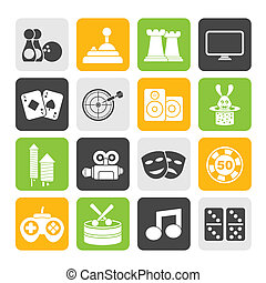 entertainment objects icons