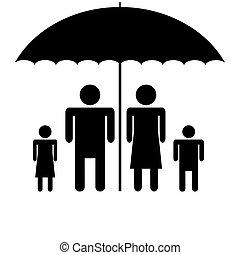 Silhouette family. Icon