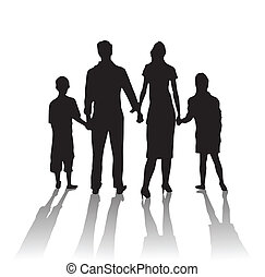 silhouette family shadow - silhouette happy family shadow...