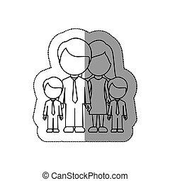 silhouette family their boys twins icon