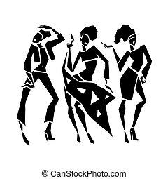 Silhouette fashion girls.
