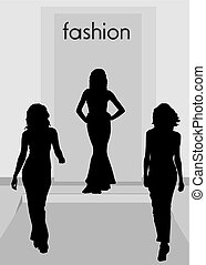 Silhouette fashion revue