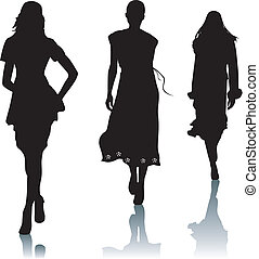 Silhouette fashion woman