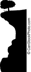 silhouette, felsformation