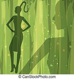 silhouette female models