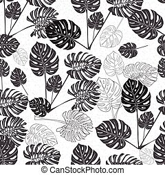 exotique feuilles monstera vendange leaves illustration vectorielle rechercher des. Black Bedroom Furniture Sets. Home Design Ideas