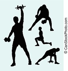 silhouette, fitness