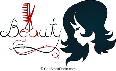 Silhouette for beauty salon and hairdresser