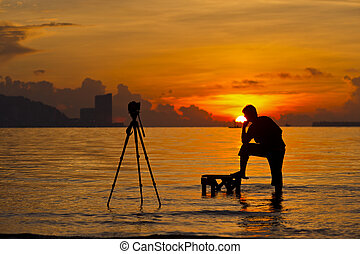 silhouette, fotografo