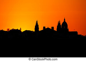 Silhouette from a National museum in Barcelona, Spain