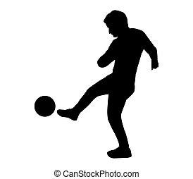 Spieler Fussball Silhouette Fussball