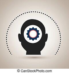 silhouette gear wheel icon