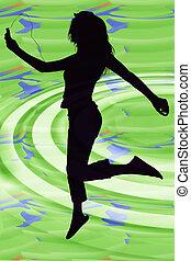 Silhouette Girl Jump