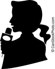 Silhouette Girl Media Interview Illustration
