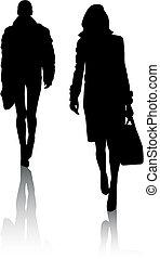 Silhouette girls