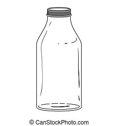 silhouette glass bottle with lid