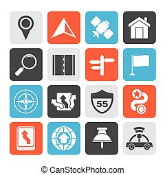 navigation and road icons