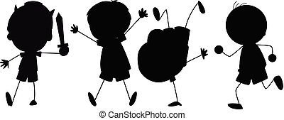 Silhouette graphic of boy