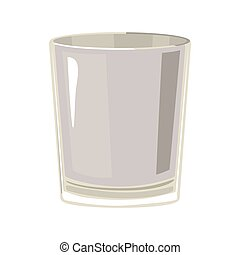 silhouette gray scale with whisky glass vector illustration