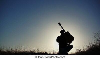 Silhouette Guitar Air Achievement