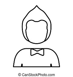 silhouette half body man with hairstyle