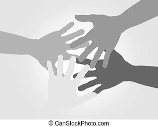 silhouette hands design