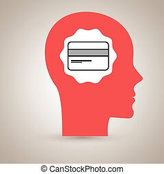 silhouette head credit card