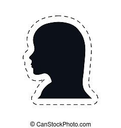 silhouette head female communication