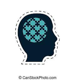 silhouette head puzzle image