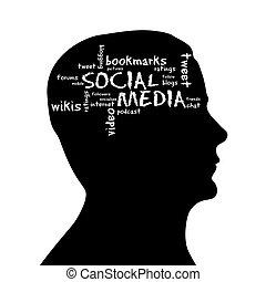Silhouette head - Social Media