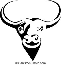 Silhouette head with black buffalo