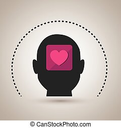 silhouette heart emoticon icon