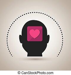 silhouette heart emoticon icon