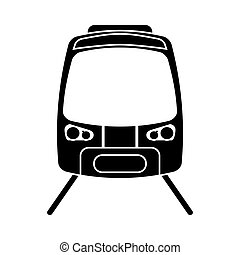 silhouette high speed train passenger rail road vector...