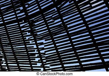 silhouette, hintergrund, von, bambus