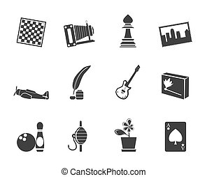 Silhouette Hobby, Leisure icons - Silhouette Hobby, Leisure...