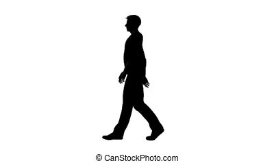 silhouette, homme