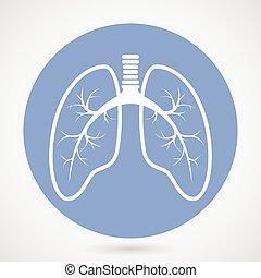 silhouette, humain, poumons