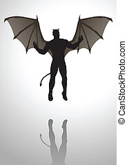 Silhouette illustration of the Devil