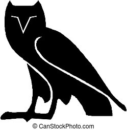 Silhouette image of an owl