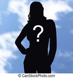 silhouette, inconnu, qui, personne, ombre,
