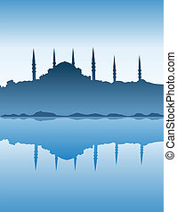 silhouette, istanbul