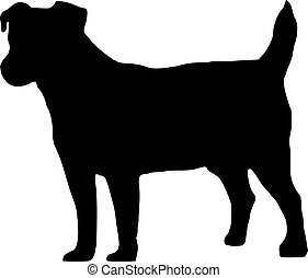 silhouette, jack russell