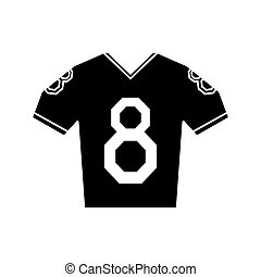 silhouette jersey american football tshirt uniform vector...