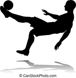 silhouette, joueur, football, football