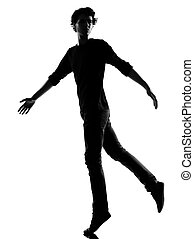 silhouette, junger mann