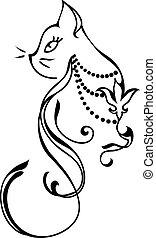silhouette, kat