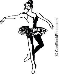 silhouette, kunst, ballett